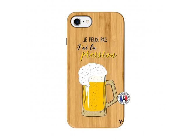 Coque iPhone 7/8 Je peux pas J'ai la Pression Bois Bamboo