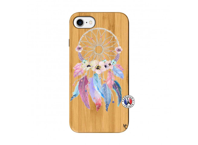 Coque iPhone 7/8 Multicolor Watercolor Floral Dreamcatcher Bois Bamboo