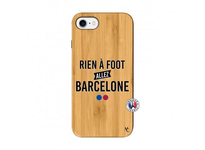 Coque iPhone 7/8 Rien A Foot Allez Barcelone Bois Bamboo