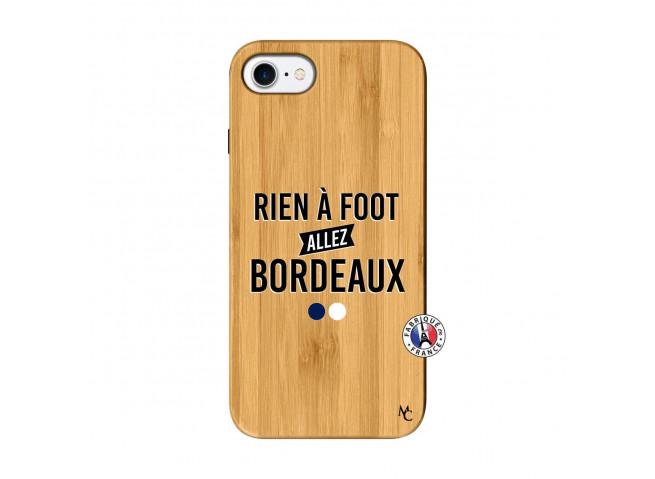 Coque iPhone 7/8 Rien A Foot Allez Bordeaux Bois Bamboo