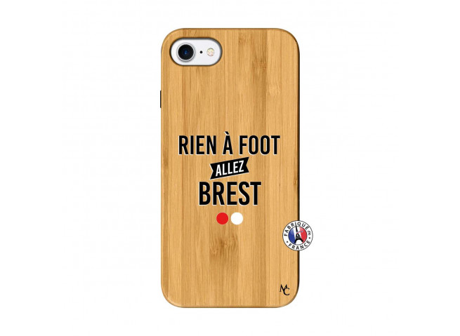 Coque iPhone 7/8 Rien A Foot Allez Brest Bois Bamboo