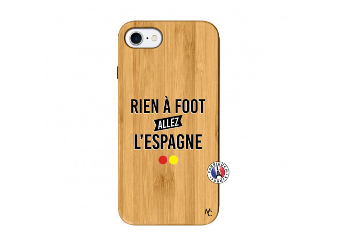 Coque iPhone 7/8 Rien A Foot Allez L'Espagne Bois Bamboo