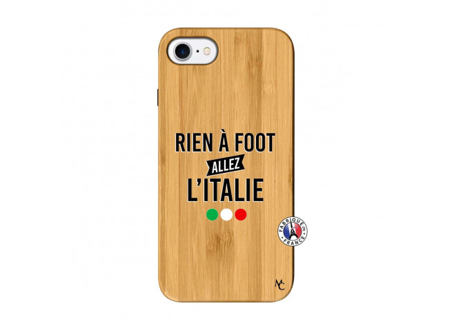 Coque iPhone 7/8 Rien A Foot Allez L'Italie Bois Bamboo