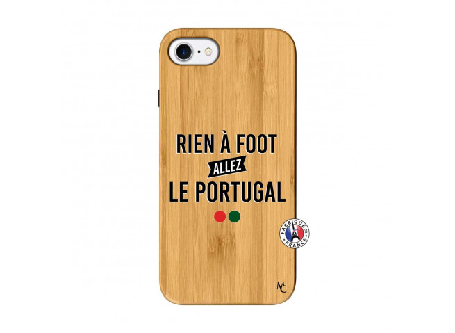 Coque iPhone 7/8 Rien A Foot Allez Le Portugal Bois Bamboo