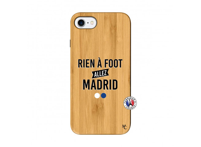 Coque iPhone 7/8 Rien A Foot Allez Madrid Bois Bamboo