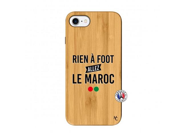 Coque iPhone 7/8 Rien A Foot Allez Le Maroc Bois Bamboo