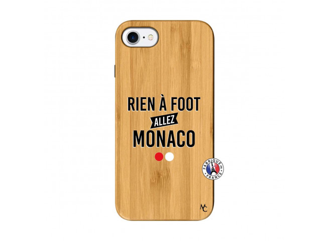 Coque iPhone 7/8 Rien A Foot Allez Monaco Bois Bamboo