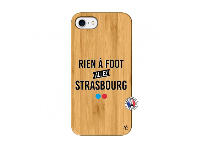 Coque iPhone 7/8 Rien A Foot Allez Strasbourg Bois Bamboo