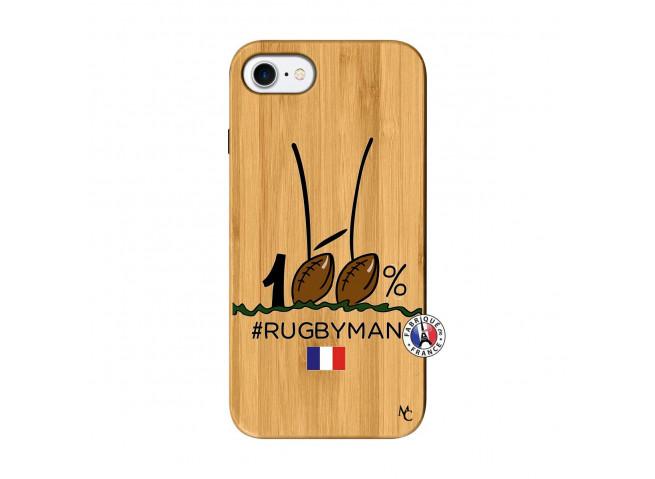 Coque iPhone 7/8 100 % Rugbyman Entre les Poteaux Bois Bamboo