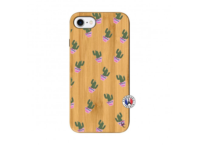 Coque iPhone 7/8/se 2020 Cactus Pattern Bois Bamboo