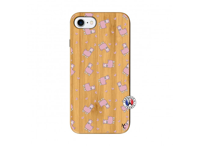 Coque iPhone 7/8/se 2020 Petits Moutons Bois Bamboo