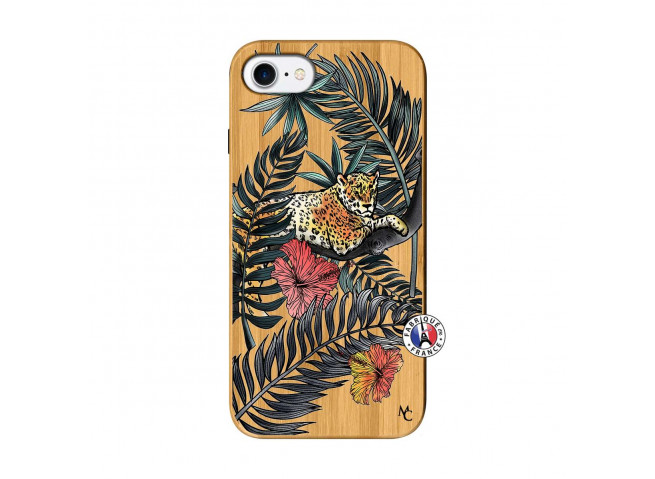 Coque iPhone 7/8/se 2020 Leopard Tree Bois Bamboo