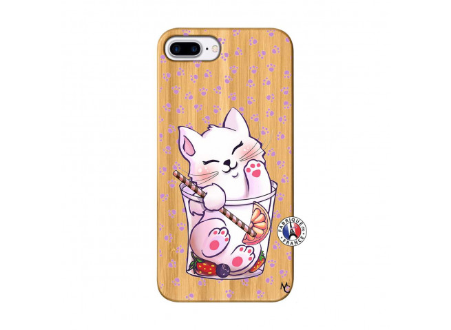 Coque Bois iPhone 7Plus/8Plus Smoothie Cat
