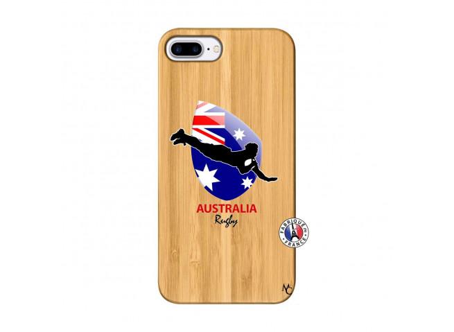 Coque iPhone 7Plus/8Plus Coupe du Monde Rugby-Australia Bois Bamboo
