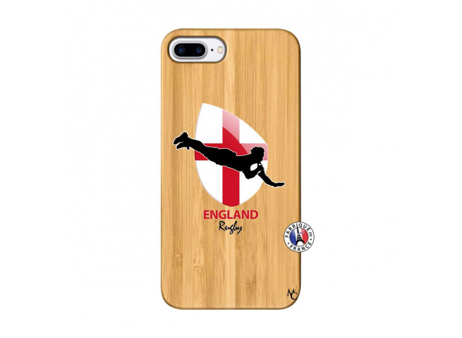Coque iPhone 7Plus/8Plus Coupe du Monde Rugby-England Bois Bamboo