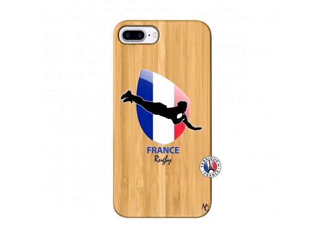 Coque iPhone 7Plus/8Plus Coupe du Monde de Rugby-France Bois Bamboo