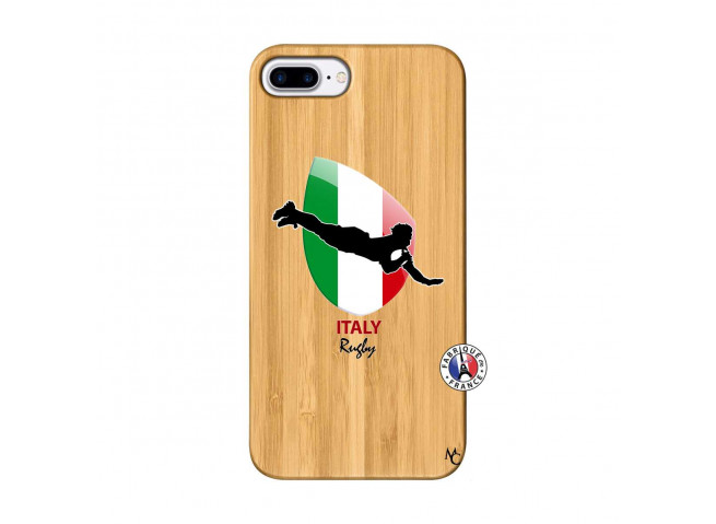 Coque iPhone 7Plus/8Plus Coupe du Monde Rugby-Italy Bois Bamboo