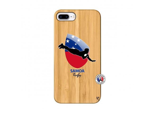 Coque iPhone 7Plus/8Plus Coupe du Monde Rugby-Samoa Bois Bamboo