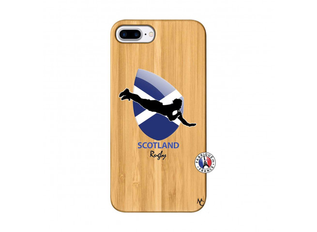 Coque iPhone 7Plus/8Plus Coupe du Monde Rugby-Scotland Bois Bamboo