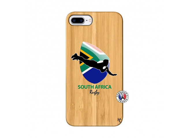 Coque iPhone 7Plus/8Plus Coupe du Monde Rugby-South Africa Bois Bamboo