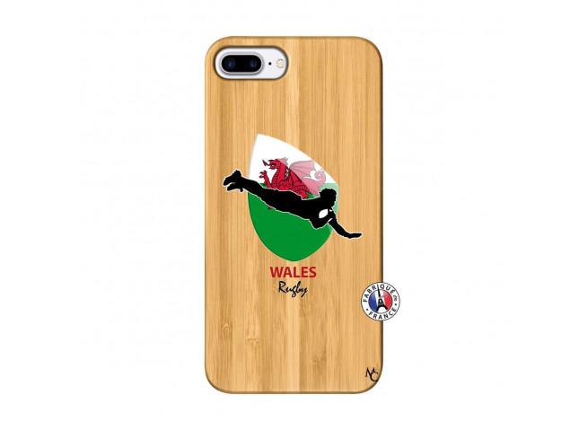 Coque iPhone 7Plus/8Plus Coupe du Monde Rugby-Walles Bois Bamboo