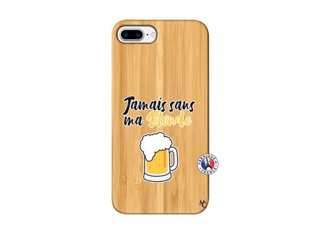 Coque iPhone 7Plus/8Plus Jamais Sans Ma Blonde Bois Bamboo