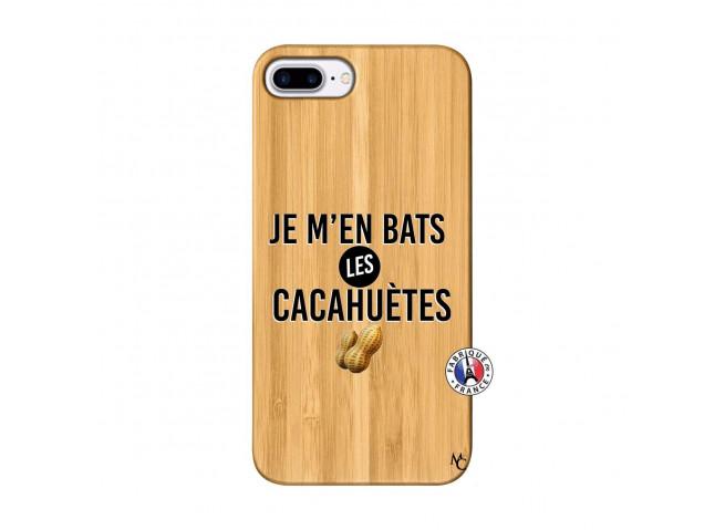 Coque iPhone 7Plus/8Plus Je M En Bas Les Cacahuetes Bois Bamboo