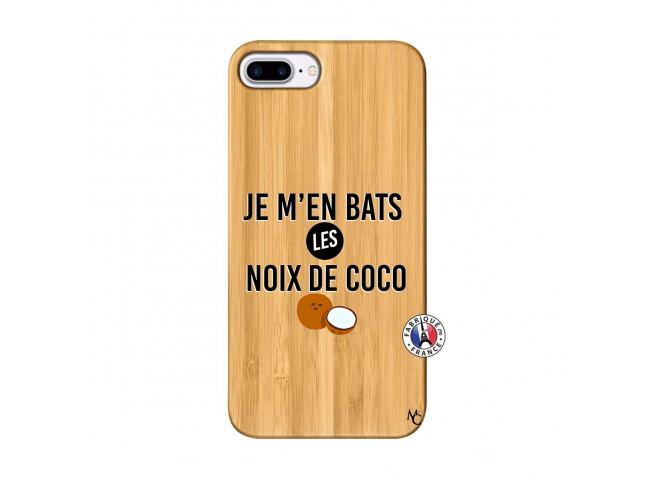Coque iPhone 7Plus/8Plus Je m'en bats Les Noix De Coco Bois Bamboo