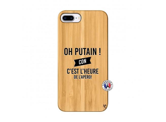 Coque iPhone 7Plus/8Plus Oh Putain C Est L Heure De L Apero Bois Bamboo