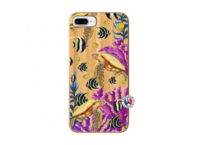 Coque iPhone 7Plus/8Plus Aquaworld Bois Bamboo