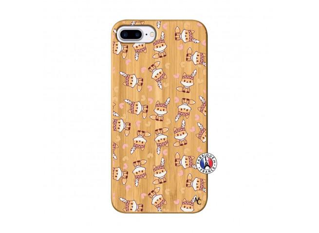 Coque iPhone 7Plus/8Plus Petits Renards Bois Bamboo
