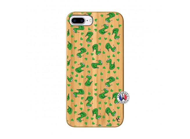 Coque iPhone 7Plus/8Plus Petits Serpents Bois Bamboo