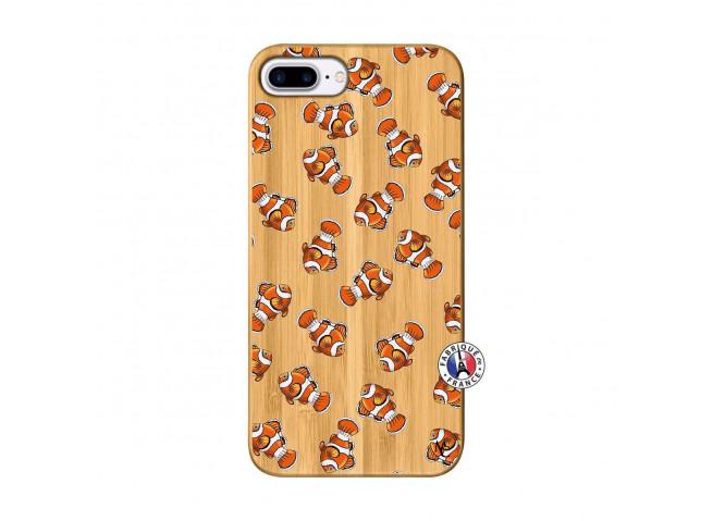 Coque iPhone 7Plus/8Plus Petits Poissons Clown Bois Bamboo