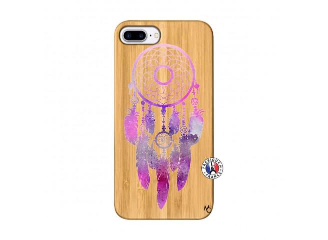 Coque iPhone 7Plus/8Plus Purple Dreamcatcher Bois Bamboo