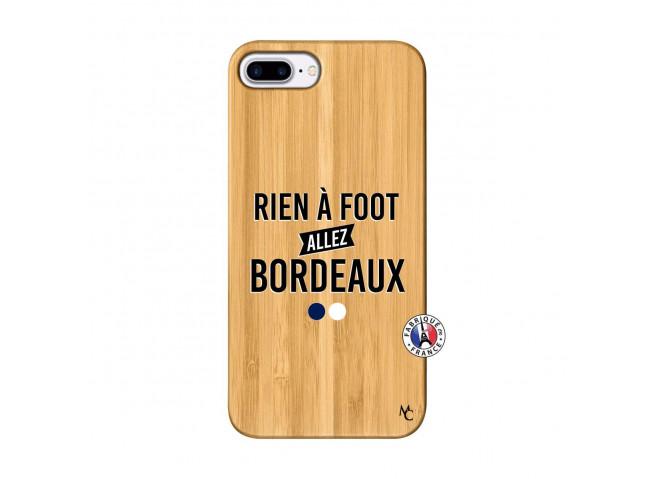 Coque iPhone 7Plus/8Plus Rien A Foot Allez Bordeaux Bois Bamboo