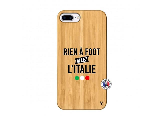 Coque iPhone 7Plus/8Plus Rien A Foot Allez L'Italie Bois Bamboo