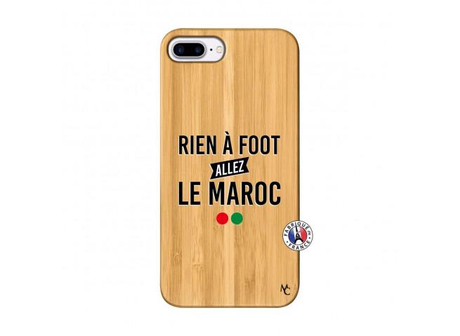 Coque iPhone 7Plus/8Plus Rien A Foot Allez Le Maroc Bois Bamboo
