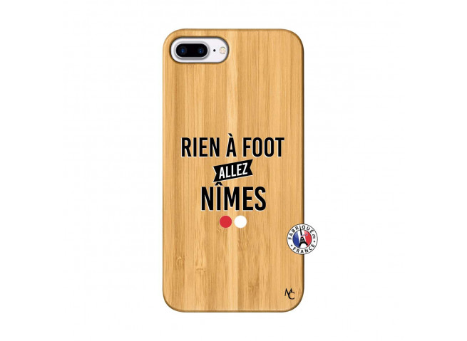Coque iPhone 7Plus/8Plus Rien A Foot Allez Nimes Bois Bamboo