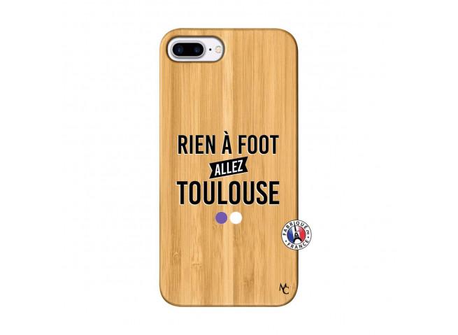 Coque iPhone 7Plus/8Plus Rien A Foot Allez Toulouse Bois Bamboo