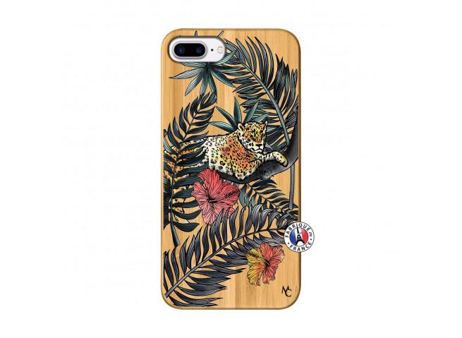 Coque iPhone 7Plus/8Plus Leopard Tree Bois Bamboo