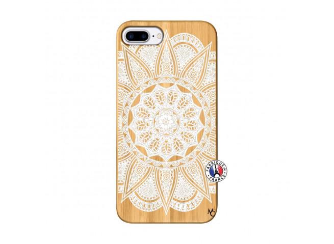 Coque iPhone 7Plus/8Plus White Mandala Bois Bamboo