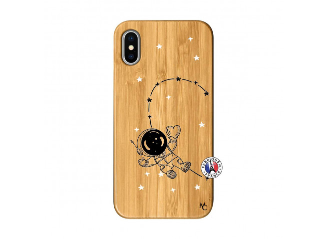 Coque iPhone X/XS Astro Girl Bois Bamboo