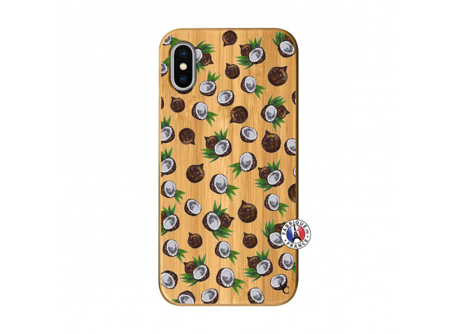 Coque iPhone X/XS Coco Bois Bamboo