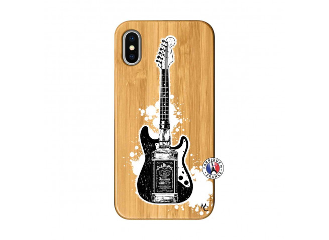Coque iPhone X/XS Jack Let's Play Together Bois Bamboo