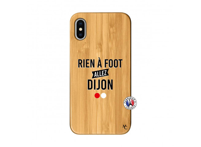 Coque iPhone X/XS Rien A Foot Allez Dijon Bois Bamboo