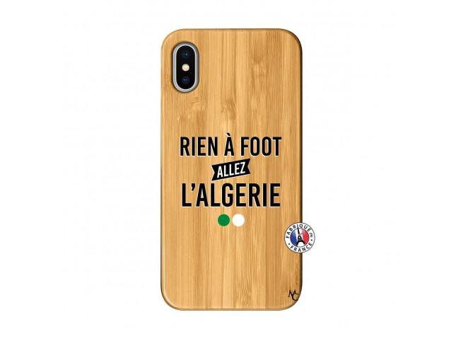 Coque iPhone X/XS Rien A Foot Allez L Algerie Bois Bamboo