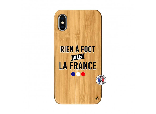 Coque iPhone X/XS Rien A Foot Allez La France Bois Bamboo