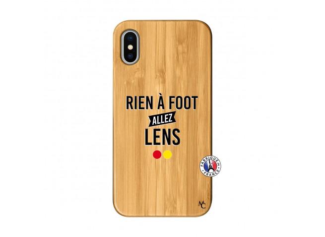 Coque iPhone X/XS Rien A Foot Allez Lens Bois Bamboo