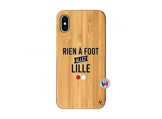 Coque iPhone X/XS Rien A Foot Allez Lille Bois Bamboo