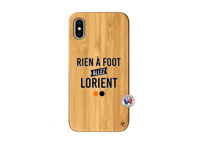 Coque iPhone X/XS Rien A Foot Allez Lorient Bois Bamboo